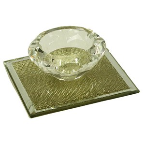 GLASS TELYSESTAKE 1 LYS 9X9X4CM 1/36