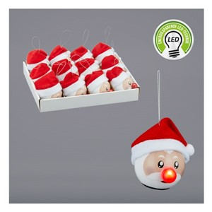 JUL NISSE MED LYS I NESE 7CM 1/12/48 DISPLAY