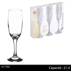 GLASS VIN IMPERIAL 3PK 21cl 1/8